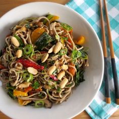 Peanut Soba Noodles with Veggies | 18 Insanely Nutty Ways To Celebrate National Peanut Butter Lover's Day