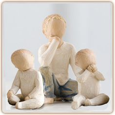 big brother of twins, willow tree big brother and twins, figurine brother of twins
