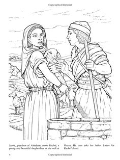 jacob and rachel coloring page - jacob meets rachel coloring sheet sunday school teacher