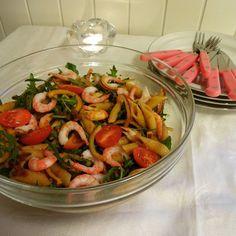 Edel's Mat & Vin : Pastasalat med reker & tomatpesto !