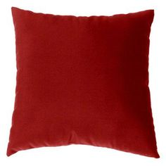 Cushion Source 17 x 17 in. Solid Sunbrella Indoor / Outdoor Throw Pillow Jockey Red - E63AI-5403
