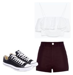 """Untitled #82"" by xsaphronx on Polyvore featuring River Island, Zara and Converse"