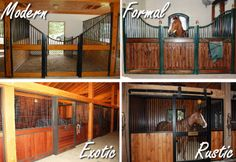 Sample Horse Stall Styles. Stalls by Lucas Equine.