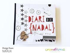 01-diario-de-navidad-natalia December Daily, Life Inspiration, Mini Albums, Project Life, Paper, Minis, Projects, Notebook, Scrapbooking