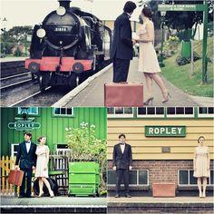 A vintage railway engagement inspiration shoot