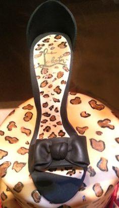 Animal Print cake with high heel  Cake by CakeryCreation
