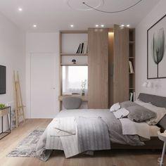 5 Simple Ways to Organize a Minimalist Bedroom – Decor Time Apartment Interior, Home Interior, Interior Design, Green Rooms, Bedroom Green, Minimalist Bedroom, Modern Bedroom, Contemporary Bedroom, Master Bedroom
