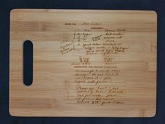 Custom engraved cutting board for Marilyn from 3DCarving on Etsy