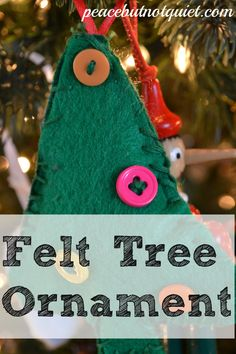 Easy Sewing Project: A Felt Christmas Tree Ornament -- a great beginning project for kids!
