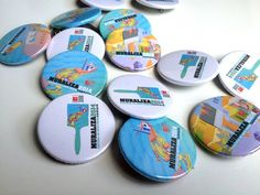 Crachás MURALIZA 2014 /// Badges MURALIZA 2014