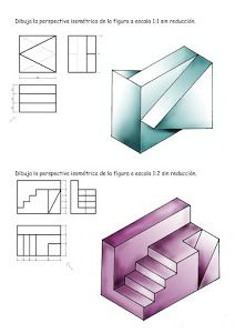 PERSPECTIVA AXONOMÉTRICA Isometric Drawing Exercises, Oblique Drawing, 3d Drawing Techniques, Orthographic Drawing, Isometric Cube, Camera Drawing, Kindergarten Design, Industrial Design Sketch, Sketches Tutorial