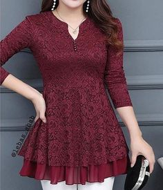 BerryLook Womens – berrylook – Decorative Lace Cascading Ruffles Lace… - Gardening - Home Decor - Wedding - Women's Fashion - Diy and Crafts Pakistani Dresses Casual, Indian Fashion Dresses, Pakistani Dress Design, Indian Designer Outfits, Sleeves Designs For Dresses, Dress Neck Designs, Blouse Designs, Stylish Dresses For Girls, Stylish Dress Designs