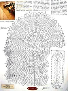 Napkins oval and elongated. Collection - all in openwork . Crochet Table Runner Pattern, Crochet Doily Diagram, Crochet Doily Patterns, Crochet Mandala, Thread Crochet, Crochet Designs, Crochet Doilies, Knitting Patterns, Knit Crochet