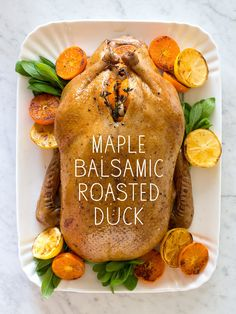 Maple Balsamic Roasted Duck