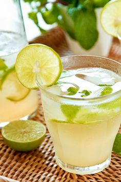There is something about the combination of lime and mint that causes our taste buds to dance. We've swapped out the rum and added Yellow Tail Pinot Grigio … it is simply delicious. Margarita Salt, Skinny Margarita, Margarita Ingredients, Margarita Recipes, Cocktail Recipes, Classic Cocktails, Summer Cocktails, Sangria