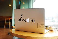 dream macbook decal/Decal for Macbook Pro, Air or Ipad/Stickers/Macbook Decals/Apple Decal for Macbook Pro / Macbook Air/laptop 2284