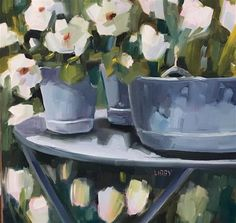 """Daily Paintworks - """"Weekend Update"""" - Original Fine Art for Sale - © Libby Anderson"""