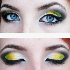 Green smokey eye feat. The crescent moon makeup technique.