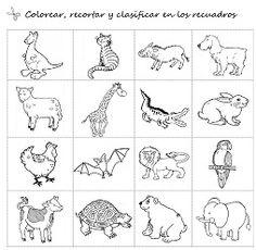 Cositas de AL y PT: Animales salvajes y domésticos para Infantil