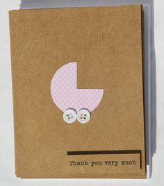 Glued2Paper wants you to have the perfect conclusion to your baby girl celebrations! Thank you cards are a simple and thoughtful way to share your gratitude to family and friends that have come together to celebrate your little bundle of joy. This set of ten cards is perfect for those baby shower thank you's! These baby girl cards are guaranteed to be handmade cards and are made using high quality Kraft cardstock. Each Kraft thank you card is embellished with a darling, hand cut Pink baby…