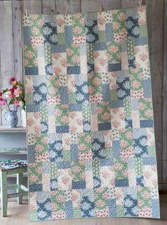 "Tilda - Painting Flowers Quilt Kit - 80.5"" x 51"""