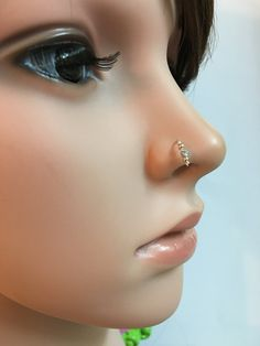 Silver nose ring septum nose ring gold nose by FlowerRainbowNJ Septum Nose Rings, Cartilage Ring, Gold Nose Rings, Silver Nose Ring, Septum Jewelry, Nose Stud, Silver Rings, Jewlery, Schmuck