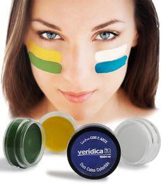 Lançamento Verídica It. Duo Cake Colorido, confira dica de aplicação em http://www.veridicait.com.br/SubCategoria-Duo-Cake-Colorido-Verde-Amarelo-Azul-Branco-147.aspx   #maquiagem   #copadomundo   #copa   #veridicait