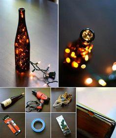 Creative Ideas - DIY Stunning Wine Bottle Light   iCreativeIdeas.com Follow Us on Facebook --> https://www.facebook.com/iCreativeIdeas