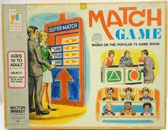 MILTON BRADLEY: 1974 Match Game #Vintage #Games