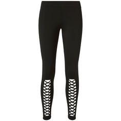 Cushnie Et Ochs Women's Cutout Leggings ($198) ❤ liked on Polyvore featuring pants, leggings, black, elastic waist pants, nylon leggings, nylon pants, stretch waist pants and cut out pants