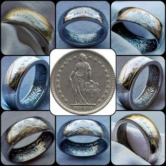 2 #swiss #francs #coin #ring #coinring #coinrings #art #handmade #vintage #jewel #jewelry