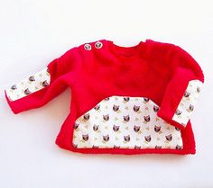 OWL Baby Boy Girl Sweater Shirt pattern sewing PDF by PUPERITA, $4.50