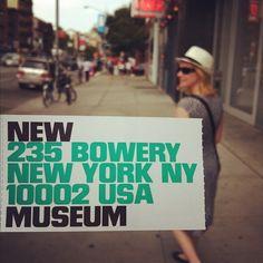 New Museum, NYC, New York Terrific, do visit.