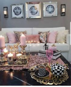 69 excellent apartment living room decorating ideas for girls 32 . - 69 excellent apartment living room decorating ideas for girls 32 - Glam Living Room, Living Room Decor Cozy, Living Room Goals, Glam Room, New Living Room, My New Room, Bedroom Decor, Living Room Decor For Apartments, Cozy Bedroom