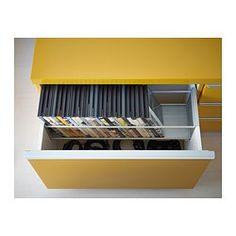 BESTÅ BURS Mueble TV - alto brillo amarillo - IKEA