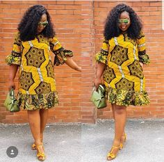 The complete pictures of latest ankara short gown styles of 2018 you've been searching for. These short ankara gown styles of 2018 are beautiful African Bridesmaid Dresses, Short African Dresses, Ankara Short Gown Styles, Trendy Ankara Styles, Short Gowns, African Print Dresses, Ankara Gowns, African Dress Designs, Ankara Designs