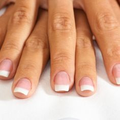 Simple but beautiful french nails French Nails, French Manicure Nails, Cute Nails, Pretty Nails, Hair And Nails, My Nails, Mustache Nails, Nail Shapes Square, Dry Cuticles