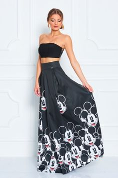 3158284583 Mickey Mouse Full Length Skirt - Sugarbird Official - Disney Style Blog -  Fashion