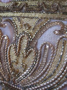 Embroidery wizard Francois Lesage - Beauty will save Tambour Beading, Tambour Embroidery, Couture Embroidery, Gold Embroidery, Embroidery Applique, Embroidery Designs, Indian Embroidery, François Lesage, Couture Embellishment