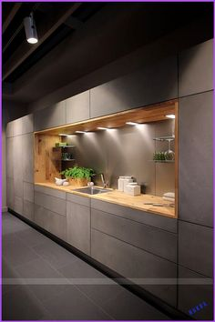 40 Inspiring Modern Luxury Kitchen Design Ideas - Modul Home Design Kitchen Ikea, Modern Kitchen Cabinets, Kitchen Cabinet Design, Home Decor Kitchen, Kitchen Layout, Cabinet Decor, Kitchen Modern, Cabinet Ideas, Space Kitchen