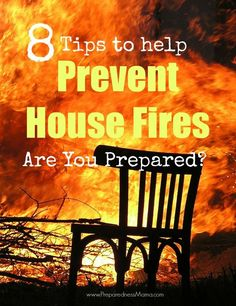Living in a fire prone area, I've seen first hand the devastation they can leave behind. Here are 8 tips to help prevent home fires before they happen.