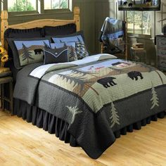 Donna Sharp Bear Lake Bedding By Donna Sharp Bedding, Comforters, Comforter Sets, Duvets, Bedspreads, Quilts, Sheets, Pillows: The Home Deco...