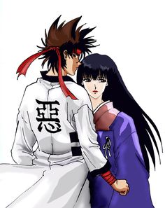 Sagara Sanosuke and Takani Megumi from the Anime/Manga, Rurouni Kenshin. Description from lonelymiracle.deviantart.com. I searched for this on bing.com/images