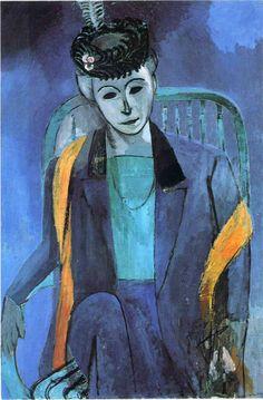 Henri Matisse. retrato de Mme. Matisse, 1913. Hermitage, St. Petersburgo.