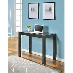 Mainstays Parsons Desk with Drawer, White.  Perfect for the combination room!