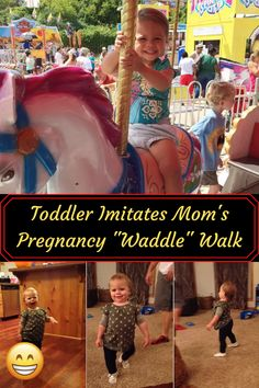 #Toddler #Imitates #Mom #Pregnancy #Waddle #Walk Weekly Outfits, Pregnant Mom, Winter Fashion Outfits, Baby Grows, Girly Outfits, Beauty Make Up, Hair Highlights, Penguin Walk, Chic Wedding