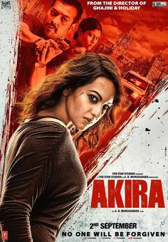 The first poster of Sonakshi Sinha's next movie Akira is out. How fierce does Sonakshi look? We cannot wait for the trailer to come out!  -Your Glam Pal, Bee & Blu by Srishti