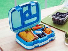 This kids bento box, discovered by The Grommet, has five individual compartments to keep your child's half sandwich and other lunch items from touching.