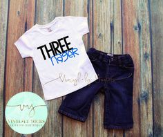 Threenager Boy Tee Birthday Shirts for Boys by VYCustomBoutique