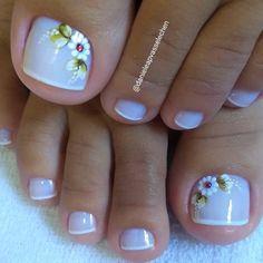 Pedicure nail art at home 50 ideas Pedicure Nail Art, Toe Nail Art, Cute Toe Nails, Pretty Nails, Nail Shapes Square, Nail Art At Home, Toe Nail Designs, Nails Design, Classy Nails